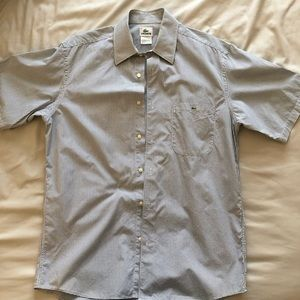 Men's Lacoste Short Sleeve Button Down Size 40